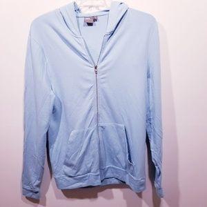 Asos Light Blue Zipper Hoodie sz-XL NWOT